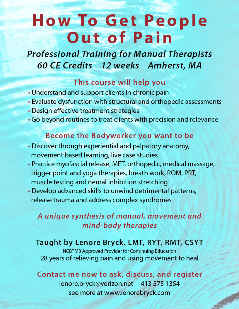 LenorePainTherapyCourseFlyer